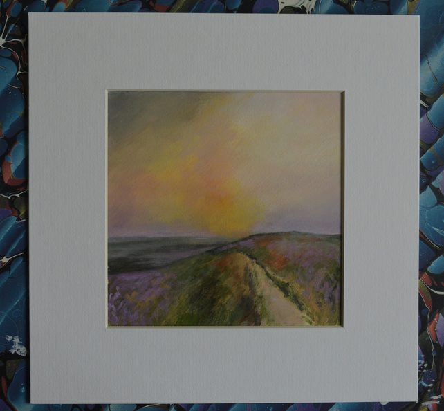 """Rambling Amongst the Heather"" Original Small Acrylic Landscape Painting"