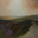 """Moorland Heather"" Acrylic Painting on Paper"