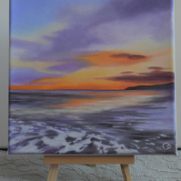 Sunset at the Bay Acrylic Seascape Painting