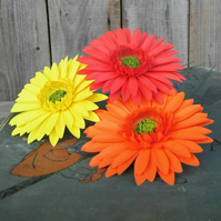 Stunning Handmade Paper Flower Gerberas - Weddings, Gifts - Bunch of 3 stems