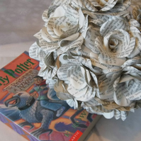 12 x Harry Potter Book Page Paper Flower Roses - Dozen handmade paper flowers