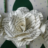 6 x Harry Potter Book Paper Flower Rose Buttonhole - Buttoniere - Themed Wedding