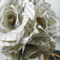 6 x The Hunger Games Book Page Paper Flowers Roses