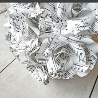 9 Rose Sheet Music Paper Flower Bridal Bouquet, Paper Roses, Wedding Flowers