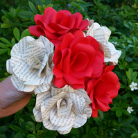 6 x Harry Potter & Gryffindor Red Paper Flowers