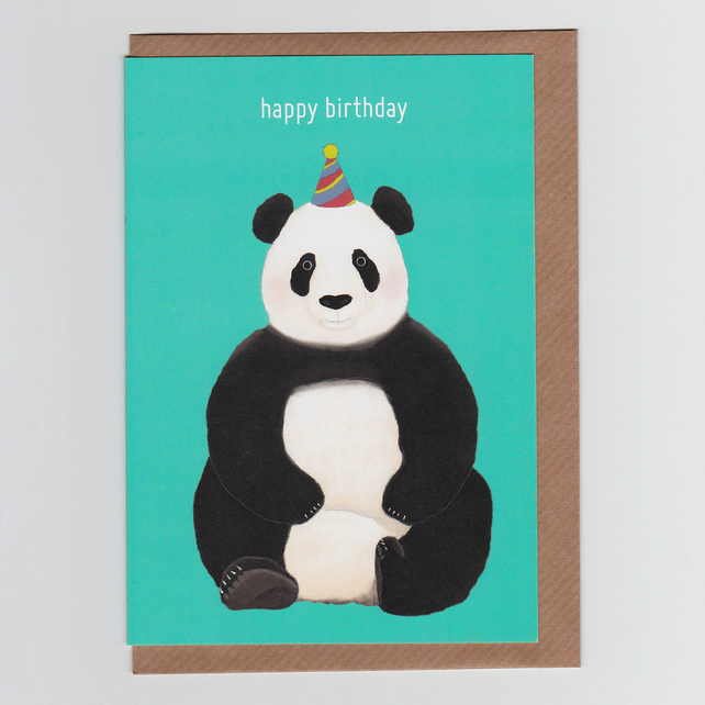 Happy Birthday Panda, Illustrated Greetings Card