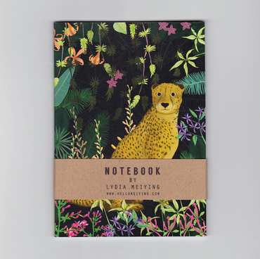 Jungle Cheetah, A6 Illustrated Mini Notebook