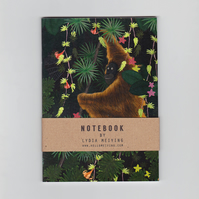 A6 Mini Notebook - Jungle Orangutan