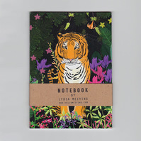 A6 Mini Notebook - Jungle Tiger