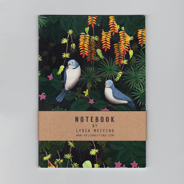 A6 Mini Notebook - Jungle Birds
