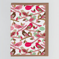 Tweet Tweet, Bird Patterned Greetings Card