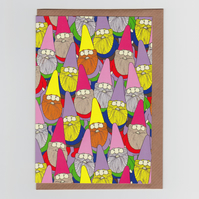 Mister Gnome, Greetings Card featuring Mister Gnome and Friends!