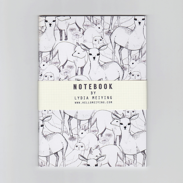 A6 Mini Notebook - Woodland