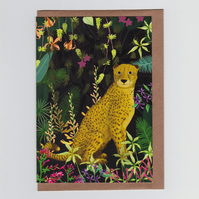 Jungle Cheetah, Greetings Card