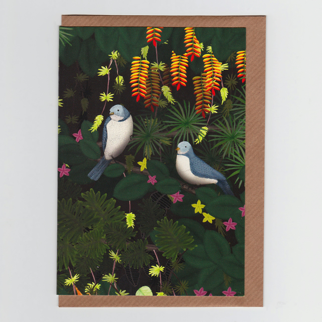 Jungle Birds, Greetings Card