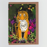 Jungle Tiger, Greetings Card
