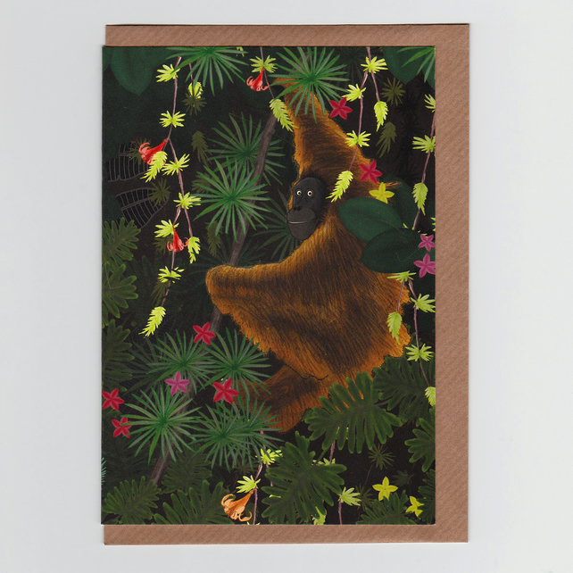 Jungle Orangutan, Greetings Card