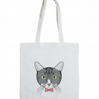 Cat Cotton Tote Bag for Cat Lovers!