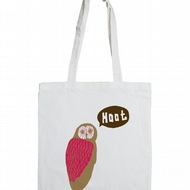 Owl Cotton Tote Bag