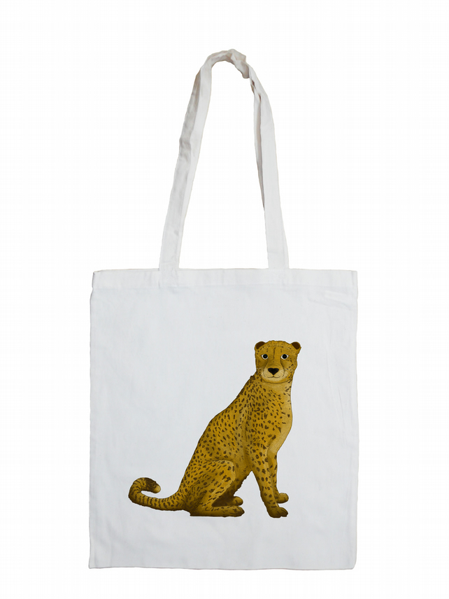 Jungle Cheetah Cotton Tote Bag