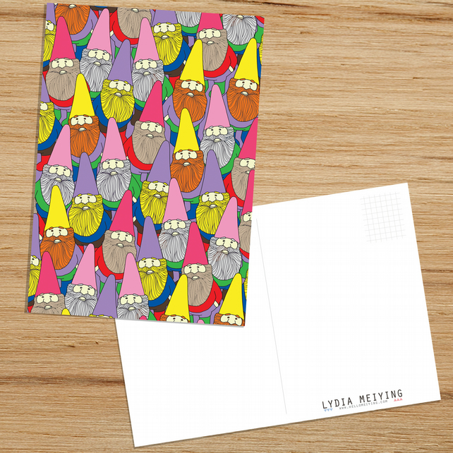 Mister Gnome, Patterned Postcard