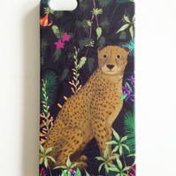 iPhone 5 Case with Jungle Cheetah Illustration