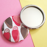 Owl Pattern, Pocket Mirror