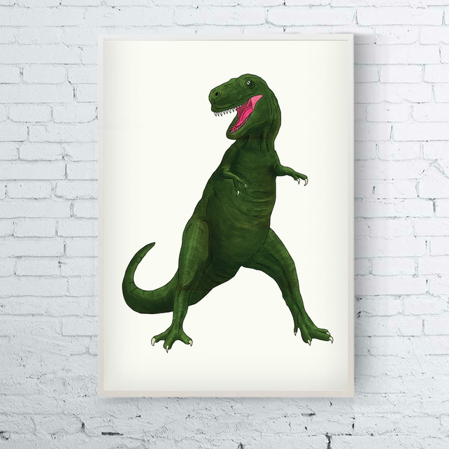 T Rex, A4 Heavy Weight Digital Print