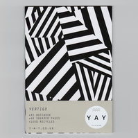 VERTIGO - A5 Notebook with Squared Pages