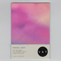 POWDER DROP - A5 Notebook with Squared Pages