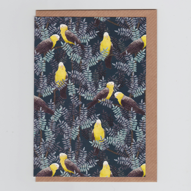 Blank Greetings Card - Galah Yellow