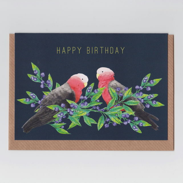 Happy Birthday Card - Red Galah Design