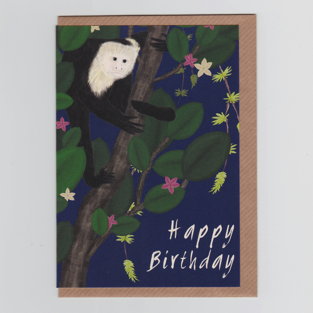 Happy Birthday Card - Monkey Design