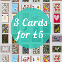 3 Greetings Cards for 5 pounds, Mix and Match