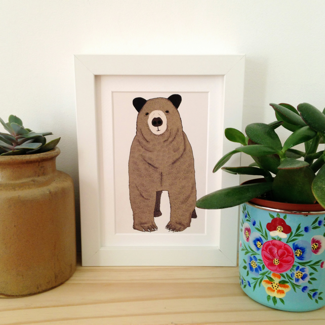 Toby, A6 Print, with mount and in either white or black frame.