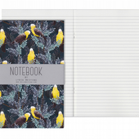 Lined Pages A5 Notebook - Galah Yellow