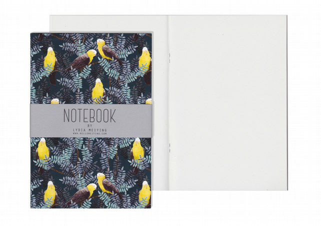 Plain Pages A5 Notebook - Galah Yellow