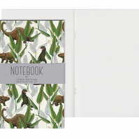 Plain Pages A5 Notebook - Dinosaur Jungle Cream