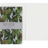 Plain Pages A5 Notebook - Dinosaur Jungle Green