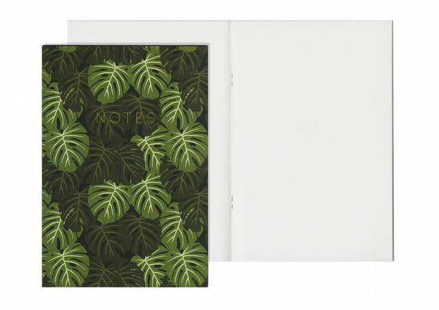 Plain Pages A5 Notebook - Monstera