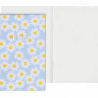 Plain Pages A5 Notebook - Daisy