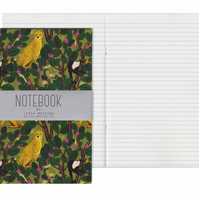 Lined Pages A5 Notebook - Monkeys and Cheetahs