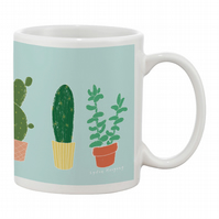 Succulents (light blue)  Mug