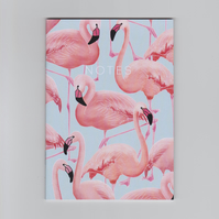 A6 Mini Notebook - Flamingos