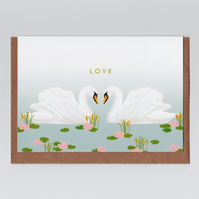 Love Card - Swans