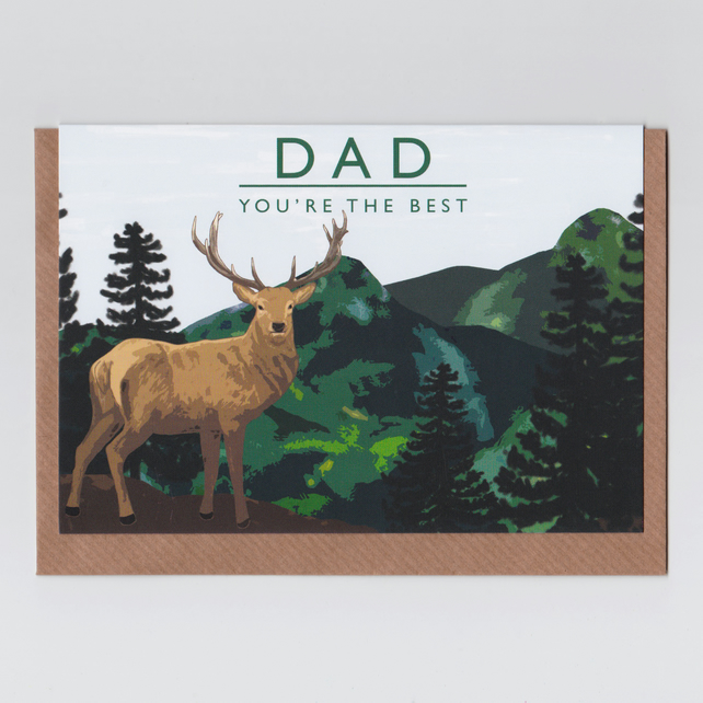 Card for Dad - Stag