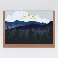 Card for Dad - Mountains