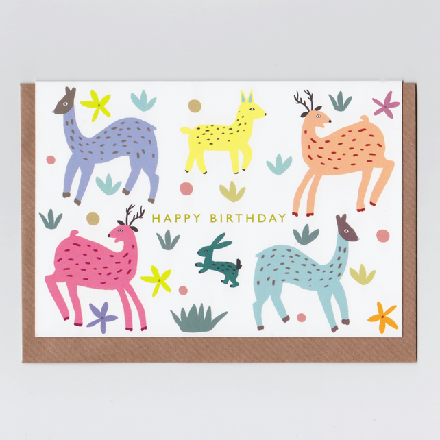 Happy Birthday Card - Fawn