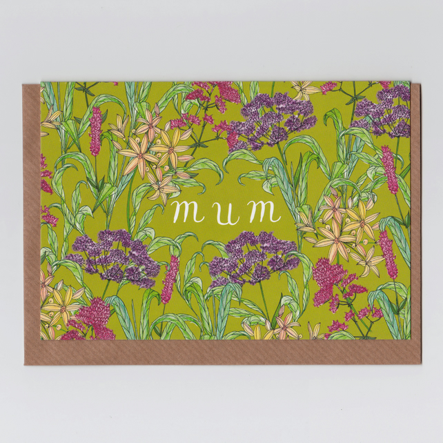 Card for Mum - Wildflowers