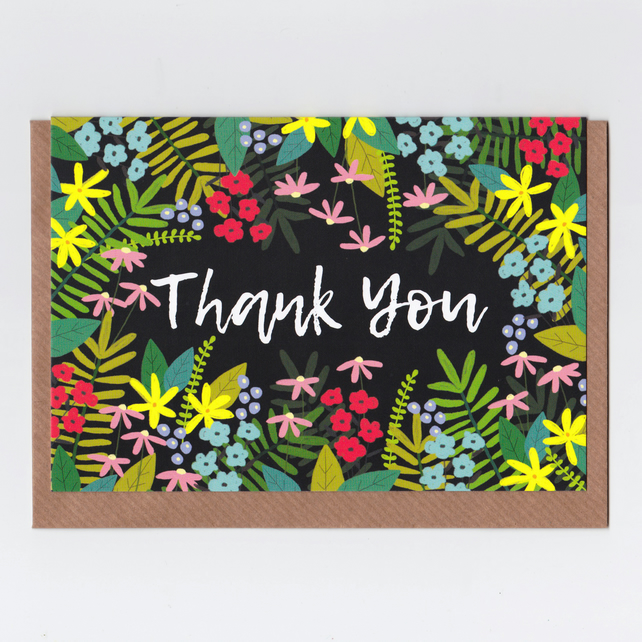 Thank You Card - Floral